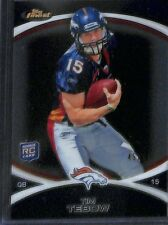 2010 Topps Finest Black Refractor #100 Tim Tebow No 45 of 99