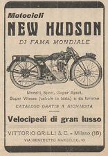 Y7830 Motocicli NEW HUDSON - Pubblicità d'epoca - 1926 Old advertising