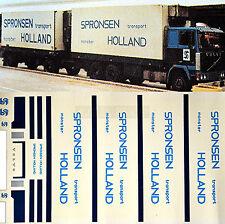 Volvo Spronsen transport monster Hollande 1:87 camion autocollant décalcomanie