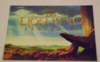 RARE MINT PROMO CARD DISNEY'S LION KING SERIES II NO #