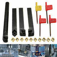 4PCS Lathe Turning Tool Holder+10PCS CCMT09T304 Carbide Inserts + T15 Wrench BE