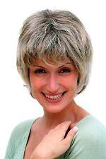 Damenperücke, grau, kurze Haare, reife Dame, Haarersatz, 20 cm, 26062-4T220H12
