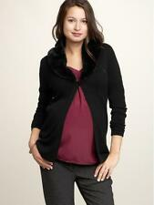 NEW GAP MATERNITY removable faux fur collared Sweater CARDIGAN size M
