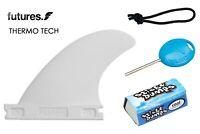 "Futures Fins SB1 3/4"" Box ThermoTech Side Bite Set Leash String, Fin Key, & Wax"