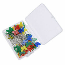 100Pcs Patchwork Sewing Multicolor Butterfly Shaped Pins Needle DIY Supplies USA