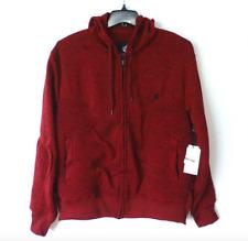 Rocawear Hoodie Sweatshirt Mens Size Large Marled Red & Black Fleece Moto New