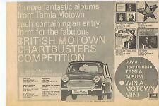 TAMLA MOTOWN / MINI  press clipping 1969 approx 26x20cm (1/2/1969)