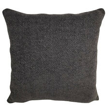 "X4 FILLED CUSHIONS - KNITTED / WOVEN FABRIC QUALITY CHOCOLATE BROWN 17X17""/43cm"