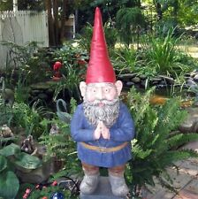 "Gnome Mordecai Garden Statue 32"" High- Resin- Hand Painted Finish"