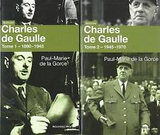 Charles De Gaulle 1&2. Paul-Marie De La GORCE.Nouveau Monde Editions HT4