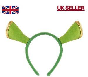Green OGRE SHREK Ears Headband Unisex For Fancy Dress Accessory