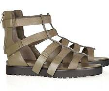 ALEXANDER WANG strappy leather SASKIA GLADIATOR sandals 38/8 KHAKI