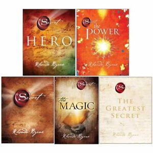 Rhonda Byrne The Secret Series 5 Books Collection Set Hero, Power, Magic, Secret