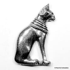 Goddess of Cats Pin Brooch Badge -UK Made- Egyptian Cat God Bastet Mythology