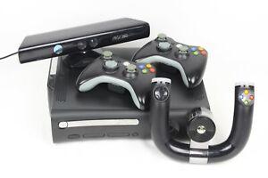 Microsoft Xbox 360 Elite | 120GB Schwarz Konsole | Zubehörpaket | Lenkrad Kinect