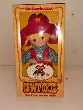 "New in Box Vintage 1981 COWPOKES Knickerbocker 11.5"" Stuffed Cloth Doll"