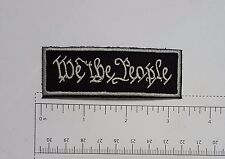 We The People - Club Harley Biker Funny Motorcycle Iron On Small Patch