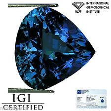 5.19 Ct IGI Certified AAA Natural D Block Tanzanite Green Violet Pear Cut