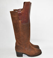 """New! Frye """"Autumn Shield"""" Tall Redwood Brown Suede & Leather Boot Size 6 B 75210"""