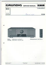 Grundig Service Anleitung Manual R 210   B439