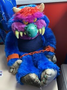 AmToy My Pet Monster 24 Inch Plush Stuffed Animal Toy 1980s Doll With Chains