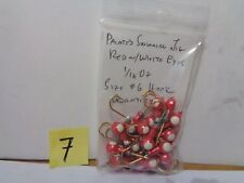 Painted Jigs, Round Head, 1/16 Oz. #6 Hook, Red w/White Eye, 25 Cnt (New Other)