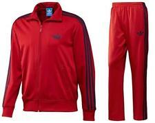RARE adidas OG Men's ADI-FIREBIRD TRACK JACKET* & TRACK PANTS  Red  LG  LAST1