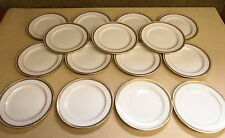 """15 Old Lenox China For Bailey Banks Biddle Gold Encrusted Plates - 8 7/8"""" R-5"""