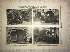"The Propelling Machinery Of H.M.S. ""Conquerer"": 1912 Engineering Magazine Print"