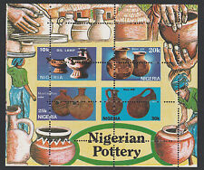Nigeria (285) 1990 Pottery m/sheet DRAMATIC MIS PERFORATED unmounted mint