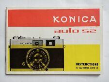 Konica Auto S2 original printed instruction user manual book