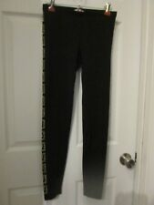 VERSACE for H&M Womens Size US 6 / EUR 36 Black Leggings with Gold Beading EUC