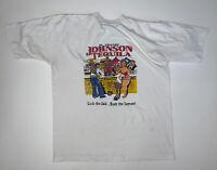 Vintage 90s Big Johnson Mexico T-Shirt Size Men's XL White Humor Comedy Tee