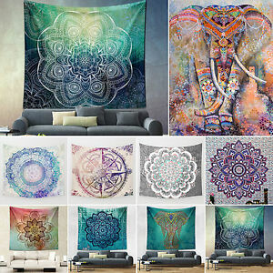 Large Indian Tapestry Wall Hanging Mandala Hippie Bedspread Throw Ethnic Towel