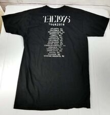 The 1975 Black Tour Official T Shirt Unisex Indie Rock Music Band Merch Tee 255