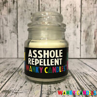 Novelty Birthday Valentine Gift Wanky Candle Rude Funny Mum - Asshole Repellent