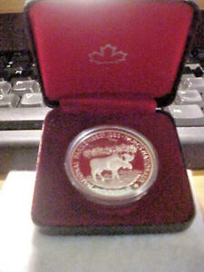 """1985 CANADA  PROOF SILVER Dollar With Case & Box  """"National Parks Anniversary"""""""