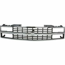 for 1988 1993 Chevrolet C10 Pickup Fullsize Grille With Dual Headlamp Chrome