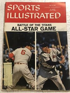 1957 Sports Illustrated ALL STAR Game TED WILLIAMS Stan MUSIAL Battle of Titans
