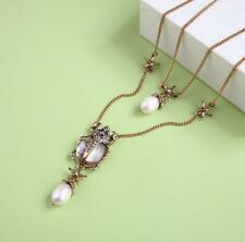 New Fashion Betsey Johnson rare Alloy Rhinestone insect pearl necklace Jewelry