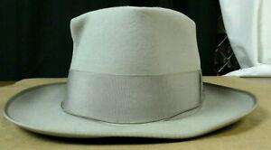 Vintage Borsalino Dress Hat Light Gray Size 7 # 5pik