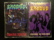 New Sealed Exodus Cassette Lot Fabulous Disaster Best of Lessons in Violence