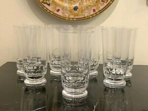 Moser Lead Free Crystal Mozart Water Highball Glasses Set of 12