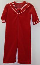 Vintage Petit Jardin Boys Red Velvet Sailor Suit 2T Pants Outfit Euc!