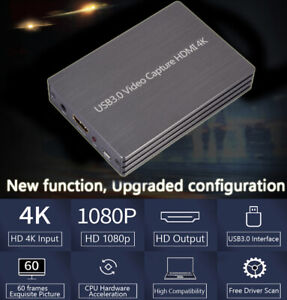 4K 60fps HDM to USB 3.0 Video Capture Card Game Live Stream Screen Record