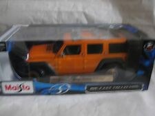 1 18 Maisto Jeep Wrangler Rescue Concept 2005 Orange-metallic