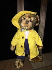 "Brass Button Pickford Bears MOOKIE Gangster Bow Tie Pin Stripe Suit Bear 9"" RARE"