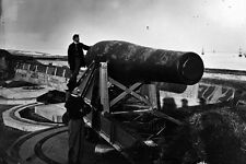 "New 5x7 Civil War Photo: 'The Lincoln Gun', 15"" Rodman Cannon at Fort Monroe"