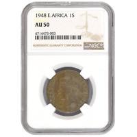 East Africa 1 Shilling 1948 George VI NGC AU 50 KM# 31