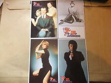 THE NEW AVENGERS SET OF 4 POSTCARDS JOANNA LUMLEY PATRICK MacNEE GARETH HUNT
